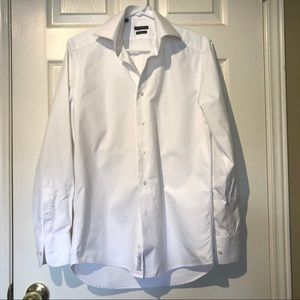 Suit Supply White Oxford Traveller Shirt